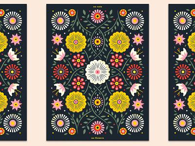 no rain / no flowers beacon illustration relief hurricane botanical poster pattern floral flowers flower