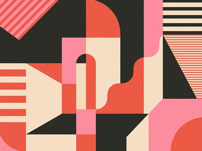 Idk dimension illustration pattern stripes abstract geometric building shapes