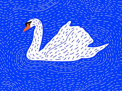 Swan duck pattern water bird illustration swan