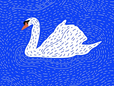 Swan duck pattern water bird illustration swan