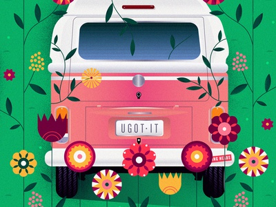 (Nothing But) Flowers vw nature band talking heads car van floral flowers