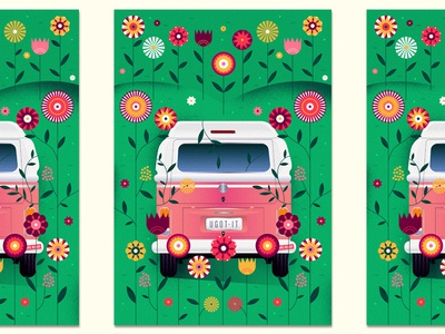 (Nothing But) Flowers 2 vw nature band talking heads car van floral flowers