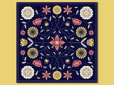 baandaanaa textile fabric pattern flower floral bandana