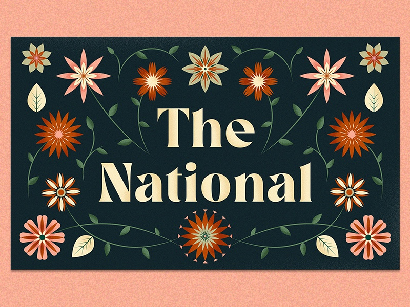 The National pattern floral national poster music plant illustration type flowers the national