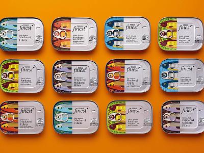 Tesco Finest illustration packaging filet fish mackerel sardines sardine