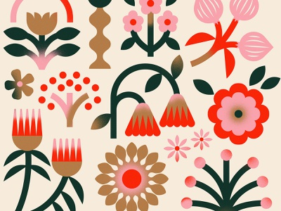 Winter Wrap box society 6 flowers winter holiday christmas illustration paper wrapping paper gift
