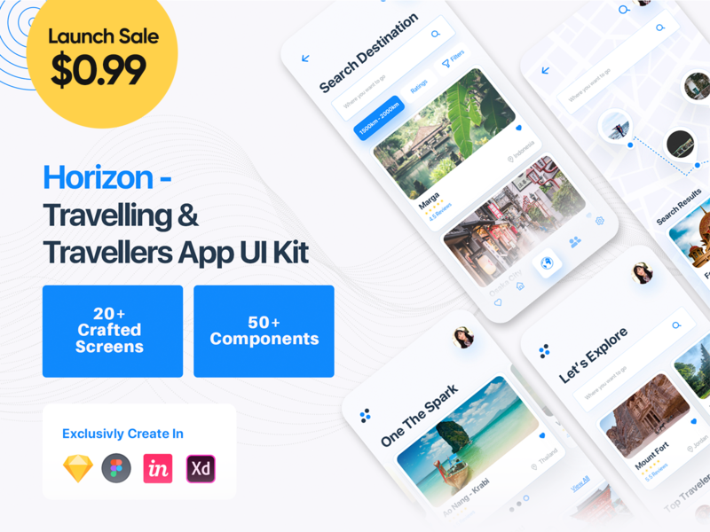 Travel App UI design adobexd mobile app travel booking vacation booking freebie vacation ui travel agency sketch app ui kit sale app ui travels travel app travel