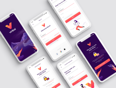 Login and Sign Up Screens figma landing page design sketch login screen sign up ux logout ui login ui welcome ui forget password onboarding sign up login