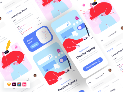 Project Management App abstract colors ux fruit app project free figma free sketch free source file free ui freebie
