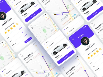 Ride Sharing UI Free landing page design landing page figma sketch dribbble download free ux free ui app ui car book car share ride share