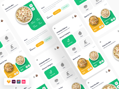 Free Food App UI landing page design logo website design free ui figma sketch uber design foodui foodies shopping ubereats foodora uber food