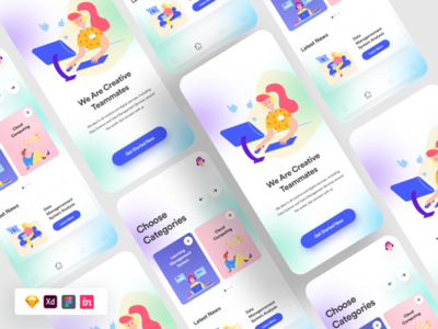 Glass Effect UI Freebie free ui figma sketch freeui uitemplates landingpage blur ui shadows purple ui trending ui modern ui glass ui glass effect freebie