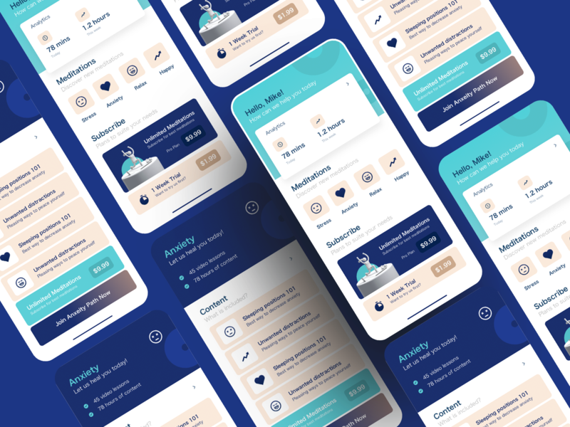 Meditation App website design illustration figma landing page freebies courses course figma xd sketch free ui awesome new freebie yoga meditation