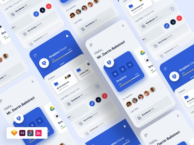 File Storage UI [source file] app ui design app ui drop box google drive drive file storage free ux free ui freebie
