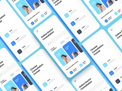 Free Online Doctor UI website design illustration landing page freebee free ui kit sketch figma free ui freebie