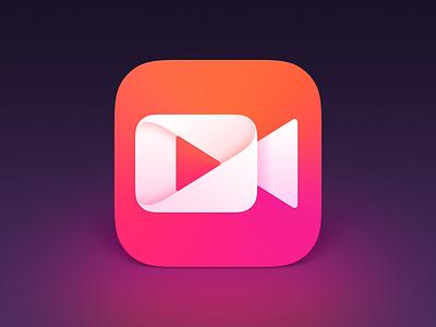 Video App Icon logodesigner logodesigns logodesign logoapp photoshop graphic branding app vector icon logo design