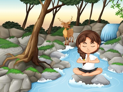 meditation girl