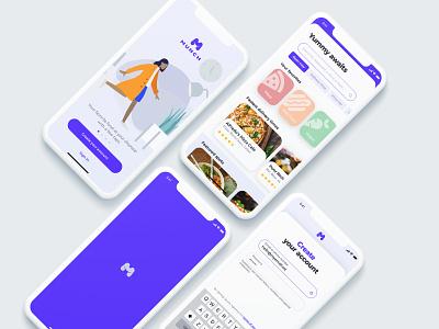 MUNCH iphone illustration branding ux typography design ios logo app ui