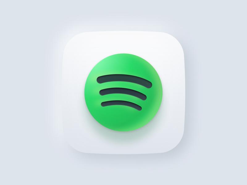 Spotify / Big Sur / Figma logo visual design ui design ui figma design icon design icon big sur ios 14 figma
