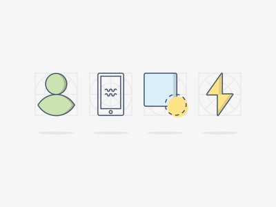 UI Design Class - Graphic Elements light pastel grid icons line flat