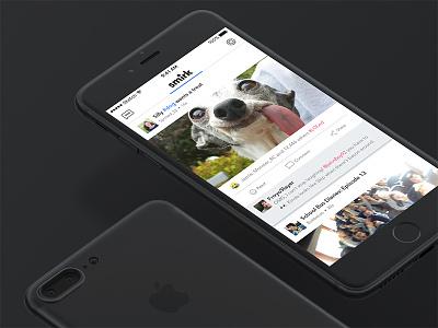 Smirk iphone7 ios sketch simple minimalistic socialmedia ux concept wip ui app