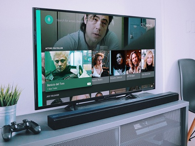 Android TV 10ft concept tv app android tv mockup ux ui