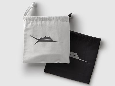 Nautical Logo monogram modern design fish branding ocean flat logo design logo