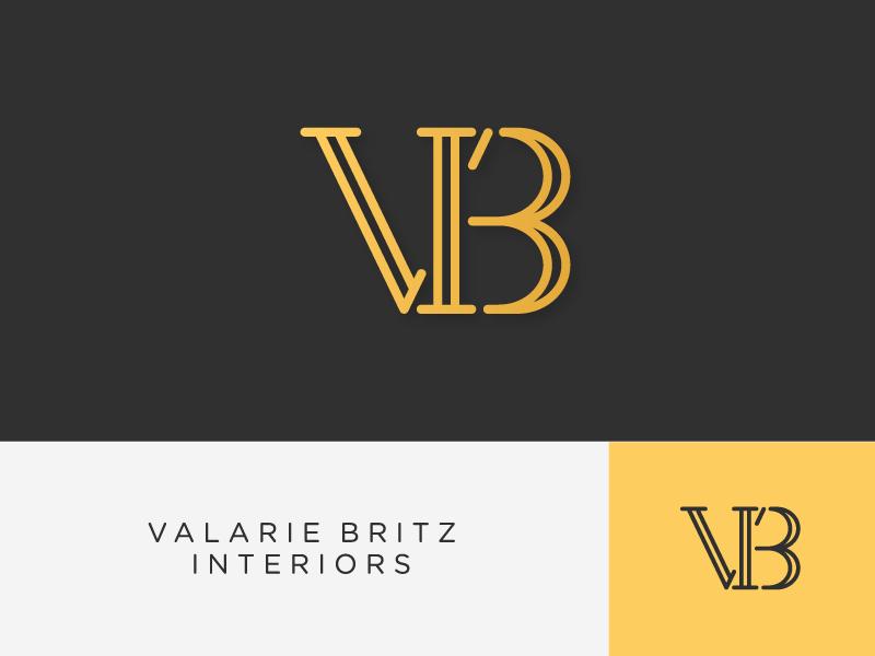 Valarie Britz Interiors interiors interior design branding monogram