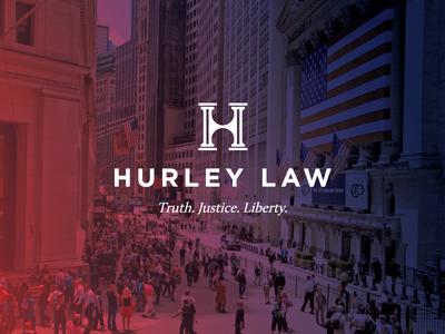Hurley Law logo branding law