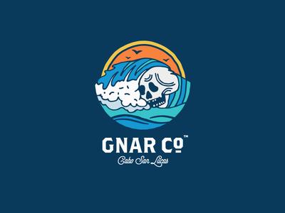 Gnar Co. Cabo mexico skull surf branding logo