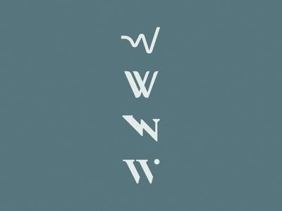 W brand logo branding