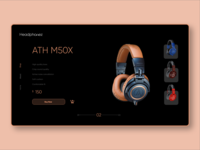 Headphones E-commerce concept
