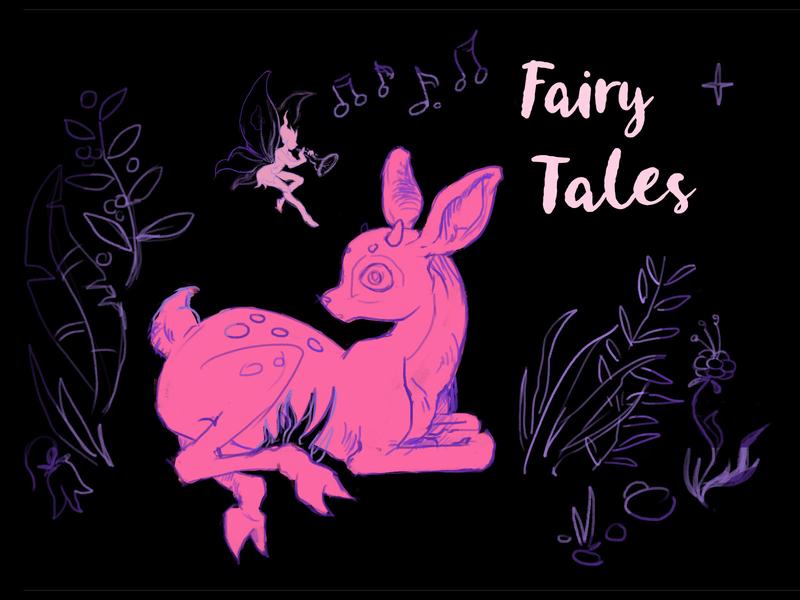 Fairy Tales plant animal deer magic marvel fairytale elf drawing painted sketch character art illustration