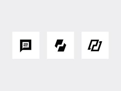 P2P Options mark logomark logo mark monogram p2p p chat bubble icon logo