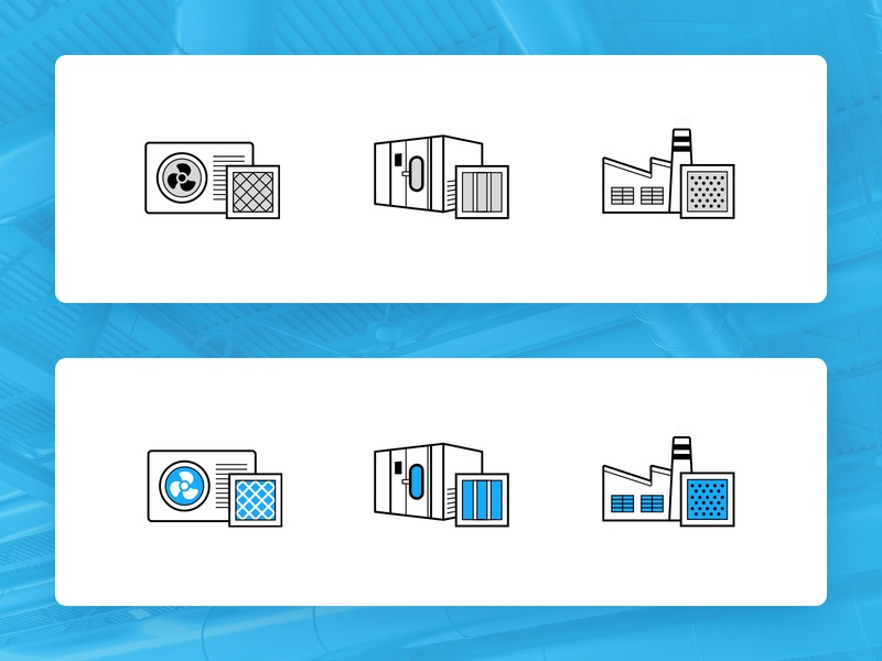 HVAC |  Icons icon filters filter icons pack heating lineart iconset hvac icons