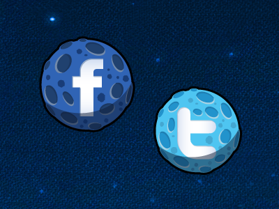 Angry Birds Space Social Icons angry birds angry birds space ios iphone social facebook twitter rovio planets