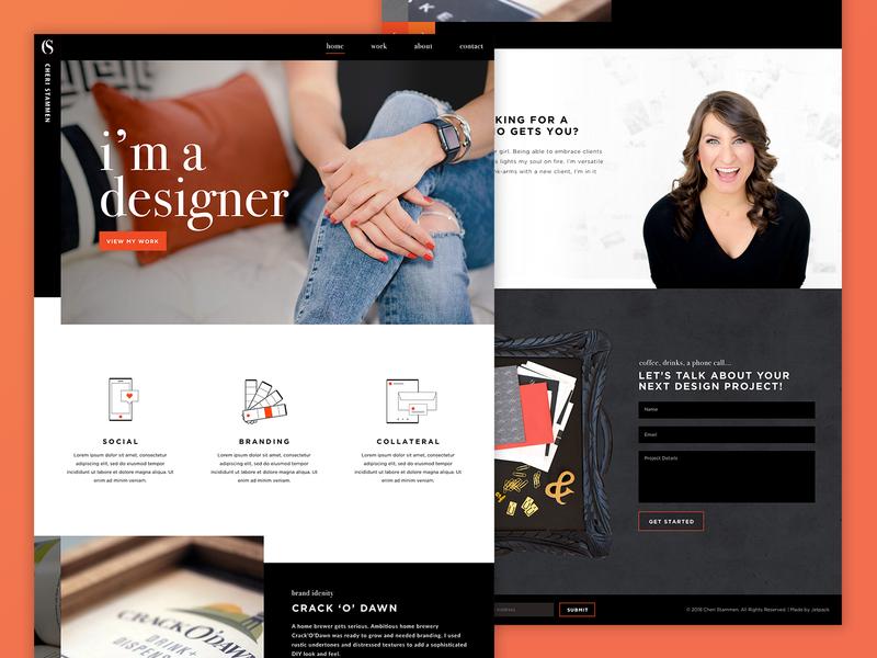 Cheri Stammen | Website ui uxui ux web design website concept portfolio website portfolio design portfolio site portfolio website design website