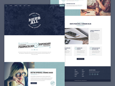 HerbAll | Website uidesign ux ui web web design website dispensary marijuana