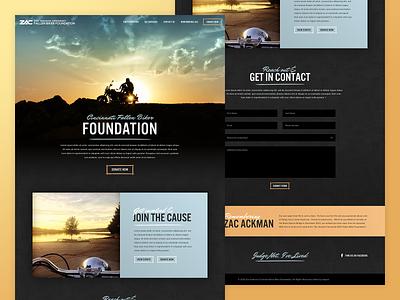 Fallen Biker Foundation | Website microsite landingpage foundation charity ux ui web design websites cincinnati motorcycle motorbike website