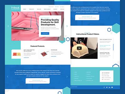 3-DMed | Website teal blue hexagon hex medical supply 3d printing medical web design webdesign ux ui web website