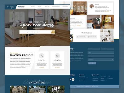 The Jeff Probst Group | Website realtor ui angle home real estate realty gold blue web design websites website
