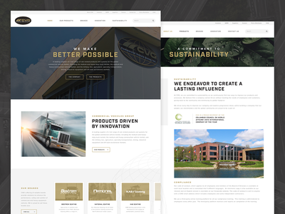 Commercial Vehicle Group | Website vehicle corporate gold trucking truck web design ui website