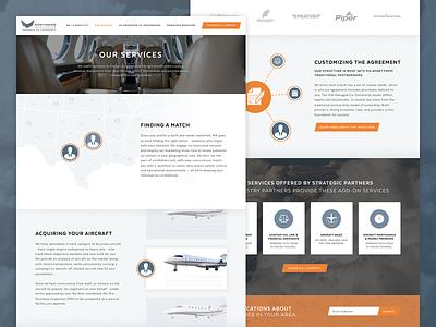 Partners in Aviation | Website map flight jets jet airplane ui web design web website