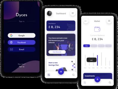 Fintech mobile app UI