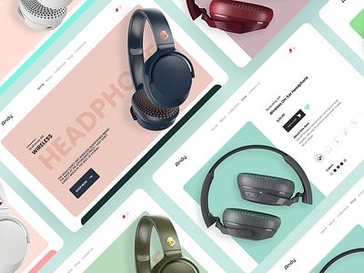 Headphone E-commerce Design ui web ecommerce design ecommerce ecommerce app design branding web design webdesign website design