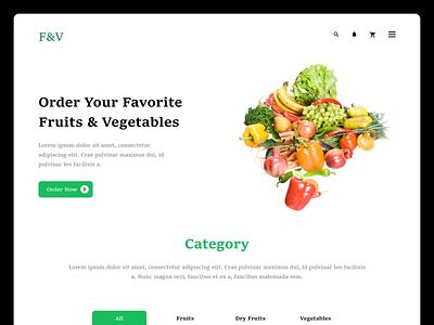 Order Your Favorite  Fruits web ui adobe xd xd ux website design web design