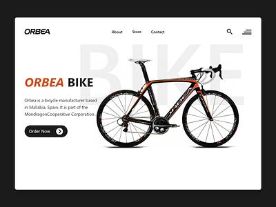 ORBEA BIKE front-end adobe xd web design uiux