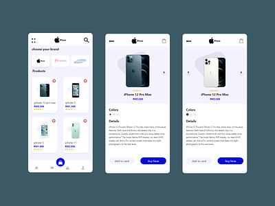 Mobile App front-end web design ux design adobe xd