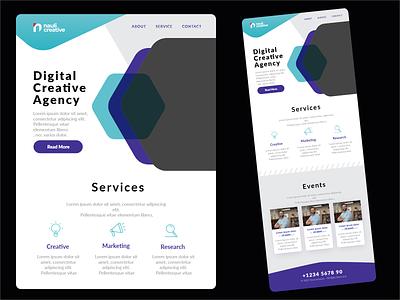 Digital Creative Agency design web design front-end adobe xd