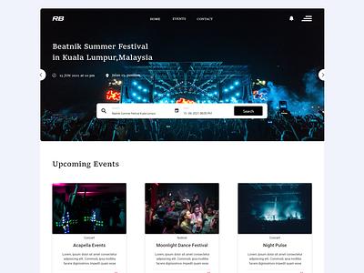 EVENTS uiux ui ux front-end web design adobe xd